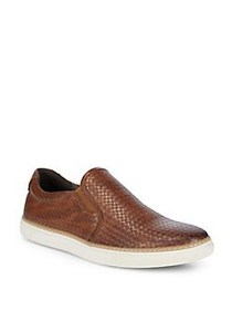 Black Brown 1826 Weave-Around Sneakers COGNAC