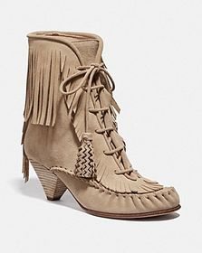Coach fringe boot