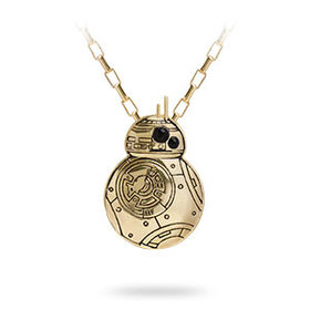 Star Wars BB-8 Gold Pendant Necklace - Exclusive