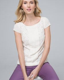 Lace-Front Tee