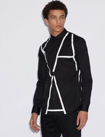 Armani SHIRT WITH CONTRASTING LETTERING