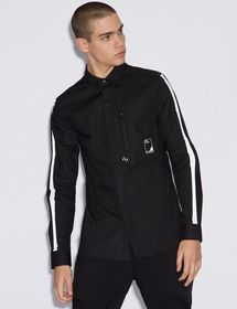 Armani SHIRT WITH CONTRASTING DETAILS
