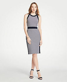 Striped Halter Sheath Dress