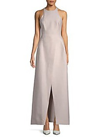 Halston Heritage A-Line Halter Gown BARELY PINK