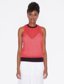 Armani MESH TOP WITH CONTRASTING DETAILS