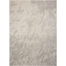 Nourison Maxell Machine Woven Rug in Ivory/Grey
