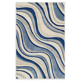 Nourison Somerset Wave Woven Area Rug in Ivory/Blu