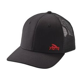 Small Flying Fish Trucker Hat, Black w/Blue (BLBU)