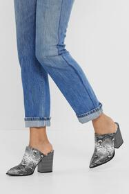 Nasty Gal Womens Natural It's a Mule World Snake B