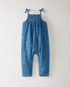Hanna Andersson Embroidered Chambray Romper