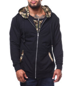 Buyers Picks solid camo layer hoodie (b&t)
