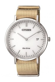 Citizen Men's Eco-Drive Tan Nylon Strap Watch