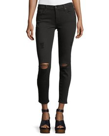 7 For All Mankind Gwenevere Distressed Ankle Jeans