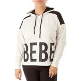 BEBE SPORT Cropped Logo Hoodie with Mesh Details