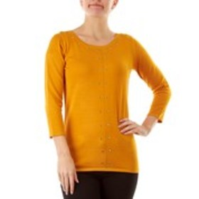 BY DESIGN Studded Crew Neck Sweater