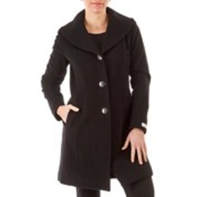 ANNE KLEIN Petite Wool and Cashmere-Blend Coat wit