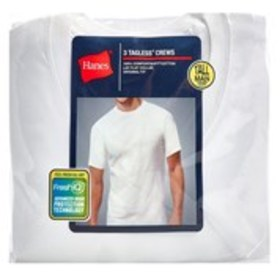 HANES Hanes Tall 3-Pack Crew Neck Undershirts