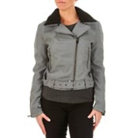 XOXO Juniors Faux Leather Moto Jacket with Sherpa
