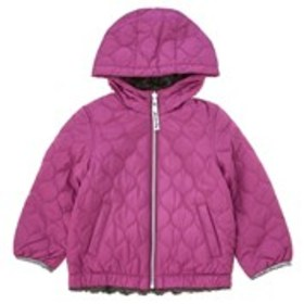 LONDON FOG Girls Reversible Faux Fur/Quilted Puffe