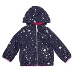 LONDON FOG Toddler Girls Quilted Star Print & Faux