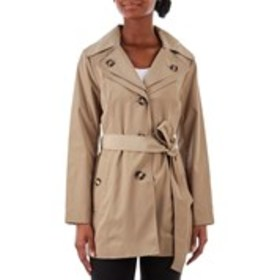 LONDON FOG Petite Double Collar Hooded Trench Coat