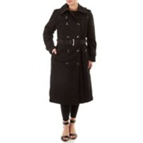 LONDON FOG Belted Double-Breasted Trench Coat with
