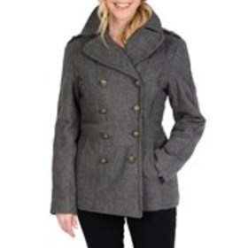 EXCELLED Double-Breasted Wool-Blend Peacoat