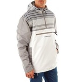 USPA Mens Striped Color Block Pullover Windbreaker