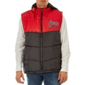 AEROPOSTALE Mens Color Block Puffer Vest with Knit
