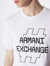 Armani T-SHIRT WITH PRINT AND LETTERING