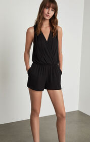 BCBG Thalia Pleated Romper
