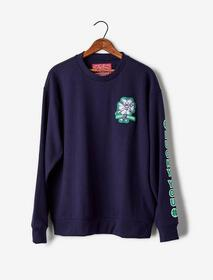 Lucky Brand Totally Lucky Patch Crew Sweatshirt