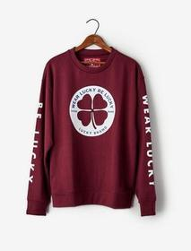 Lucky Brand Totally Lucky Clover Circle Crew Sweat
