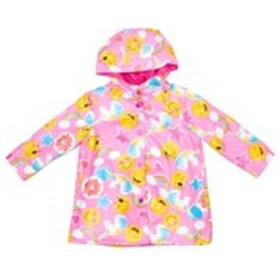 WIPPETTE Toddler Girls Emoji Print Raincoat with H