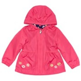 LONDON FOG Baby Girls Pink Floral Jacket with Hood