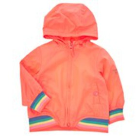 OSHKOSH Baby Girls Coral Rainbow Stripe Jacket wit