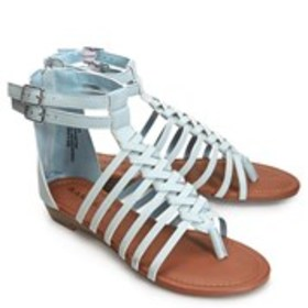 Womens Woven Gladiator Wedge Sandals