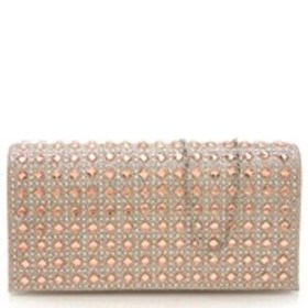 D'MARGEAUX Square Crystal Glitter Clutch