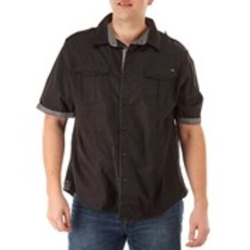 MARC ECKO Big & Tall Woven Short Sleeve Button Dow