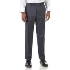 Mens Modern Fit Pleated Grey Suit Pants