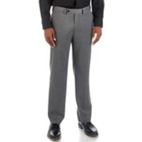 Mens Traditional Fit Flat Front Grey Sharkskin Sui
