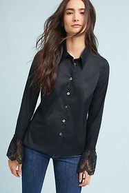 Anthropologie Laced-Cuff Blouse
