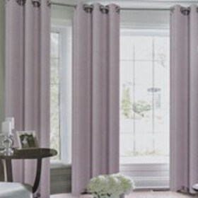 Melvin Faux Silk 4-Pack Grommet Top Window Curtain