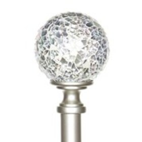 "BEBE Mosaic Globe Finial and Curtain Rod 84"" - 120"