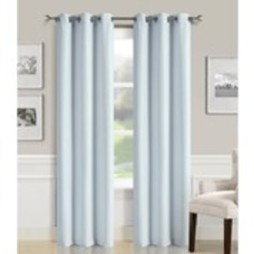 """Set of 2 Faux Silk Shimmer Curtains- 38"""" x 84"""""""