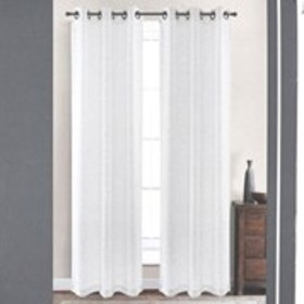 """Set of 2 Faux Linen Sheer curtains - 38"""" x 84"""""""