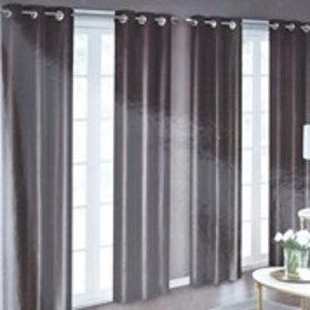 "BOMBAY Set of 4 Faux Silk Shimmer Curtains- 38"" x"