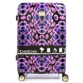 "BEBE Amy Fuchsia Floral 29"" Hardside Luggage"