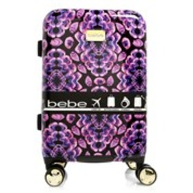 "BEBE Amy Fuchsia Floral 21"" Carry-On Hardside Lugg"