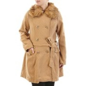 JESSICA SIMPSON Textured Double Breasted Peacoat w